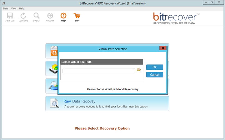 Steps for vhdx recovery by using VHDX Recovery Software